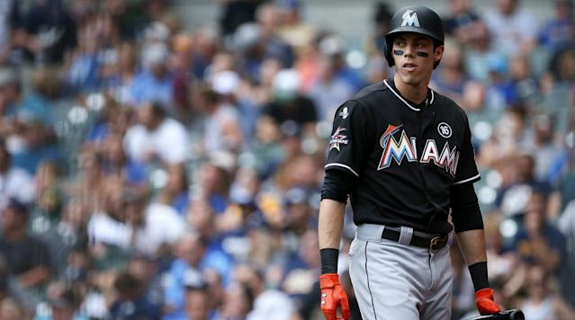 "<p>Christian Yelich's agent doesn't want his client to be the last man standing after the Marlins' firesale this offseason. </p><p>Joe Longo <a href=""http://www.espn.com/mlb/story/_/id/22123963/christian-yelich-relationship-miami-marlins-irretrievably-broken-agent-says"" rel=""nofollow noopener"" target=""_blank"" data-ylk=""slk:told ESPN"" class=""link rapid-noclick-resp"">told ESPN</a> that his client's relationship with the Marlins is ""irretrievably broken"" and that it'd be in the best interest of both parties for the organization to trade him before spring training. </p><p>""They have a plan,"" Longo said. ""I respect that plan, but that plan shouldn't include Christian at this point in his career. He's in the middle of the best years of his career, and having him be part of a 100-loss season is not really where [we] want to see him going.""</p><p>The plan, which has been put into action by a new ownership group headlined by Derek Jeter, has been to trade away the team's best players in an attempt to shed salary and start a full rebuild. Miami has already traded away Dee Gordon (to the Mariners), Marcel Ozuna (Cardinals) and reigning NL MVP Giancarlo Stanton (Yankees) in moves that have been criticized as prioritizing fiscal balance over on-field performance. </p><p>That's left Yelich, 26, as perhaps the best player left on the Marlins roster. The centerfielder batted .282 with 18 homers and 81 RBIs in 2017 and is a career .290 hitter. He won the Gold Glove in 2014 and the Silver Slugger in 2016, and his contract makes him an attractive trade target—Yelich has four years left on a seven-year, $49.5 million deal he signed with Miami in 2015. </p><p>Yelich has expressed displeasure with the direction of the franchise, as has catcher J.T. Realmuto and <a href=""https://www.si.com/mlb/2018/01/10/starlin-castro-miami-marlins-trade-request"" rel=""nofollow noopener"" target=""_blank"" data-ylk=""slk:new addition Starlin Castro"" class=""link rapid-noclick-resp"">new addition Starlin Castro</a>, who came over from the Yankees in the Stanton deal. </p>"