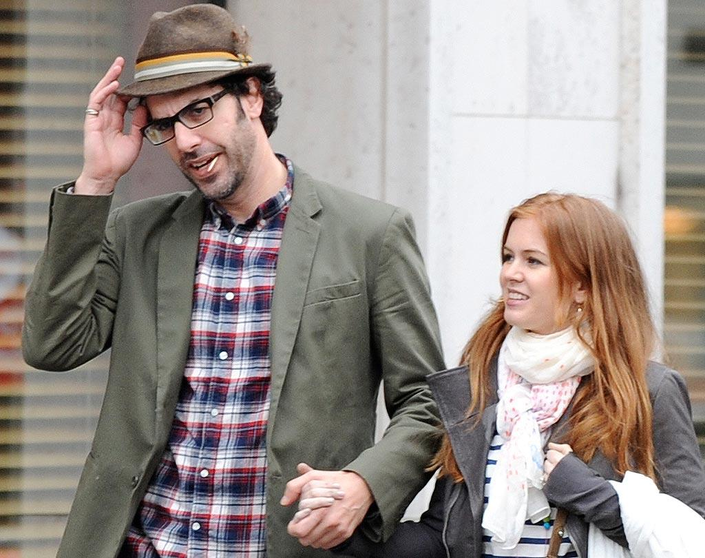 "Meanwhile, Sacha Baron Cohen and Isla Fisher were spotted in Paris during what has to be one of the most romantic vacays ever! The couple of eight years reportedly said ""I do"" in an intimate ceremony last week. A/<a href=""http://www.x17online.com"" target=""new"">X17 Online</a> - March 22, 2010"