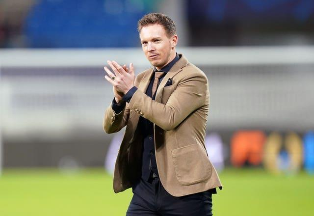 Julian Nagelsmann knows RB Leipzig are up against it in the second leg (John Walton/PA)