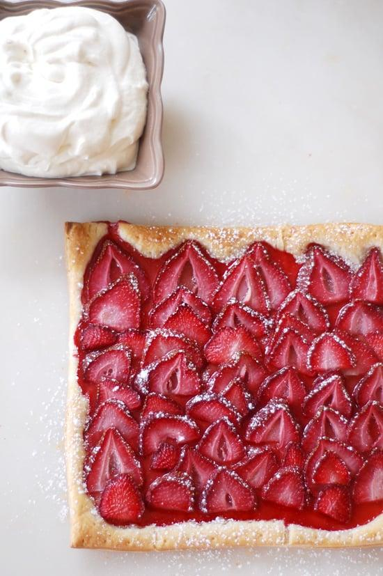 """<p>Store-bought puff pastry is the key to making a <a href=""""https://www.popsugar.com/food/Strawberry-Tart-Easy-Recipe-22538145"""" class=""""ga-track"""" data-ga-category=""""Related"""" data-ga-label=""""http://www.yumsugar.com/Strawberry-Tart-Easy-Recipe-22538145"""" data-ga-action=""""In-Line Links"""">strawberry tart</a> in no time.</p> <p><small class=""""source"""">Photo: Camilla Salem</small></p>"""