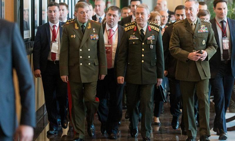 Turkish, Russian and US chiefs of general staff meeting in Antalya, Turkey