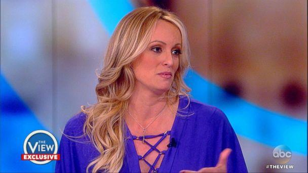 PHOTO: Stormy Daniels appears on 'The View,' April 17, 2018. (ABC News)