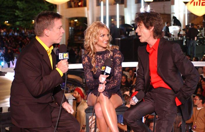 <p>Here's a historically important photo of the man, the myth, the legend, known as Kurt Loder interviewing Britney Spears and some other less famous person. </p>