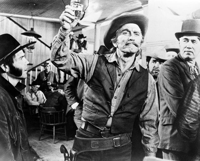 Kirk Douglas in a scene from the film A Gunfight (PA)