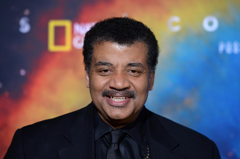 "WESTWOOD, CALIFORNIA - FEBRUARY 26: Astrophysicist Neil deGrasse Tyson arrives at National Geographic's ""Cosmos: Possible Worlds"" Los Angeles Premiere at Royce Hall, UCLA on February 26, 2020 in Westwood, California. (Photo by Amanda Edwards/Getty Images)"