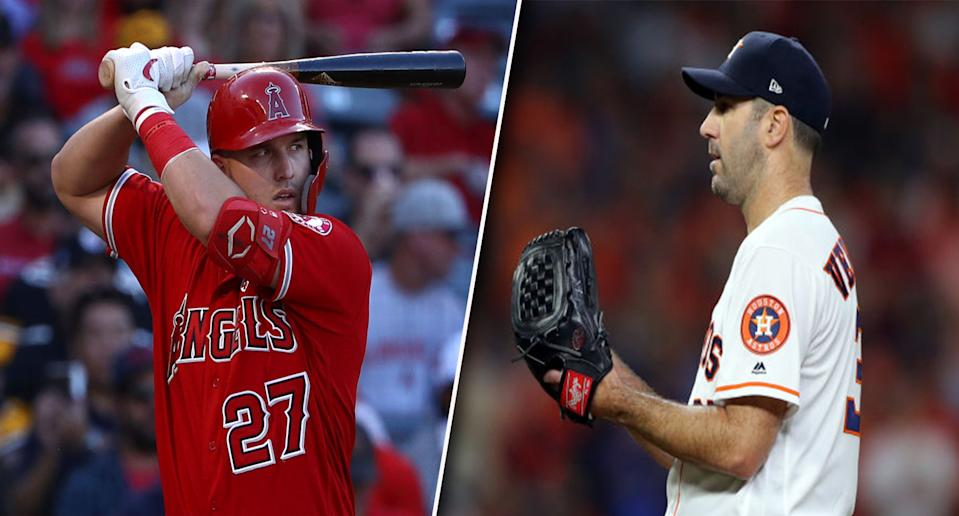Who joins this all-time duo in the 2010s fantasy team? (Photos by Victor Decolongon/Alex Trautwig/MLB Photos via Getty Images)