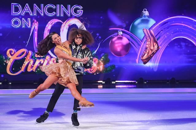 'Dancing on Ice' pro Vanessa Bauer is set to reunite with Diversity dancer Perri Kiely during Sunday's show (Photo by Stuart C. Wilson/Getty Images)