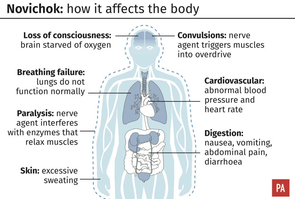 Novichok poisoning: How it affects the body. (PA)