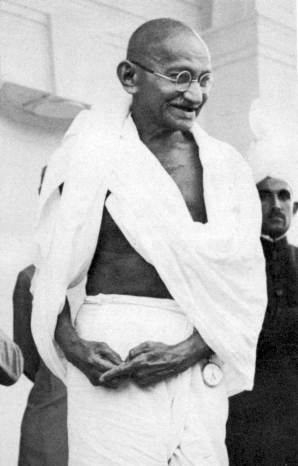 Mohandas Karamchand Gandhi (1869-1948), known as Mahatma (Great Soul), Indian Nationalist leader. (Photo by Ann Ronan Pictures/Print Collector/Getty Images)