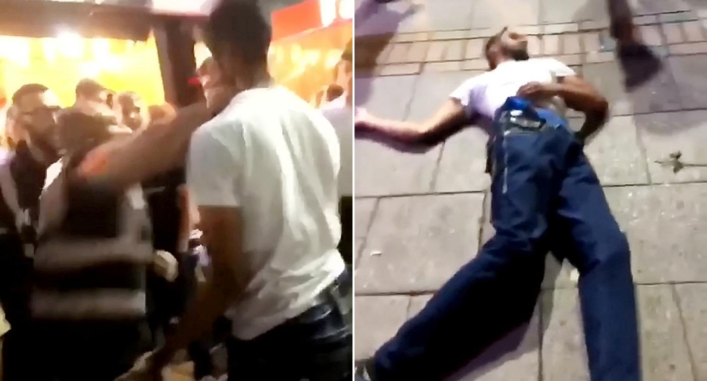 The man was knocked out after being punched by a bouncer (Picture: SWNS)