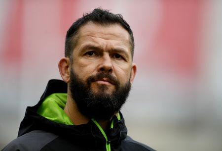 Rugby Union - Six Nations Championship - Ireland vs Wales - Aviva Stadium, Dublin, Republic of Ireland - February 24, 2018 Ireland defence coach Andy Farrell during the warm up before the match REUTERS/Clodagh Kilcoyne