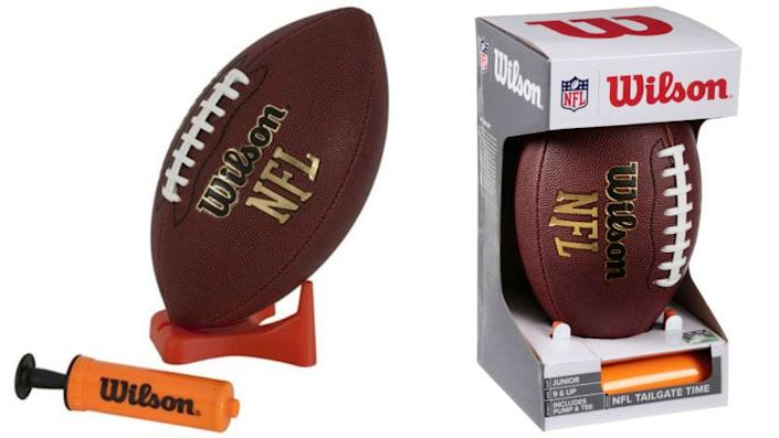 This junior football is perfect for a game of catch.
