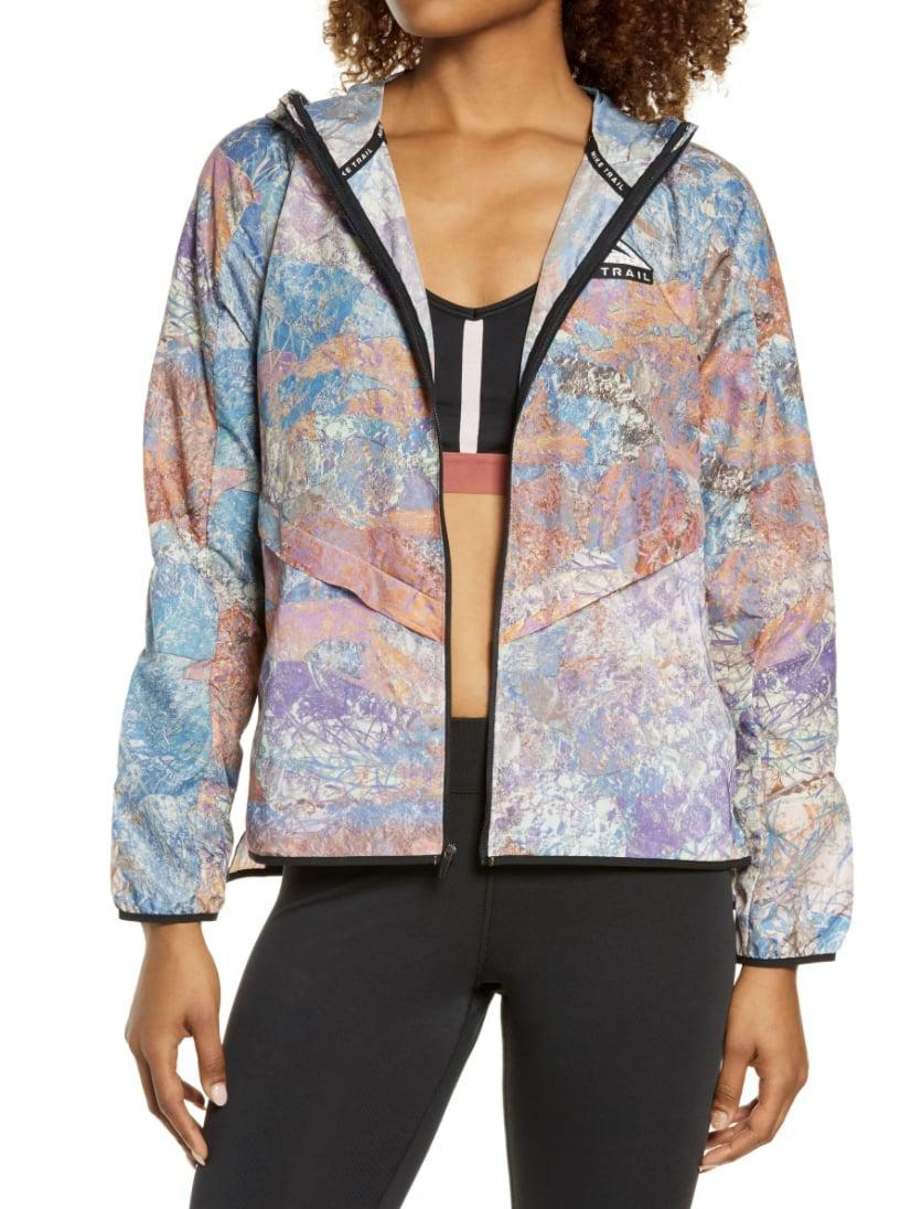<p>This <span>Nike Packable Trail Windrunner Jacket</span> ($120) is a visual treat. You'll also feel comfortable and protected as you perform your workout or get things done in it.</p>