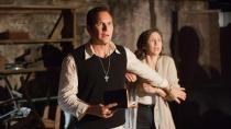 A vast universe has now spun off from James Wan's 2013 horror movie <em>The Conjuring</em>, but the main franchise is back in 2020 with Vera Farmiga and Patrick Wilson once again playing paranormal investigators Ed and Lorraine Warren. (Credit: Warner Bros)