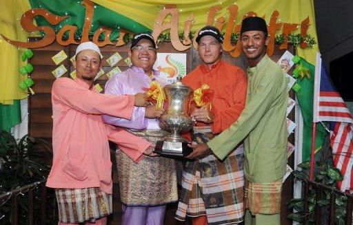 Joonas Granberg (2nd right) hit a 10 under par 62 in the final round of last year's Selangor Masters