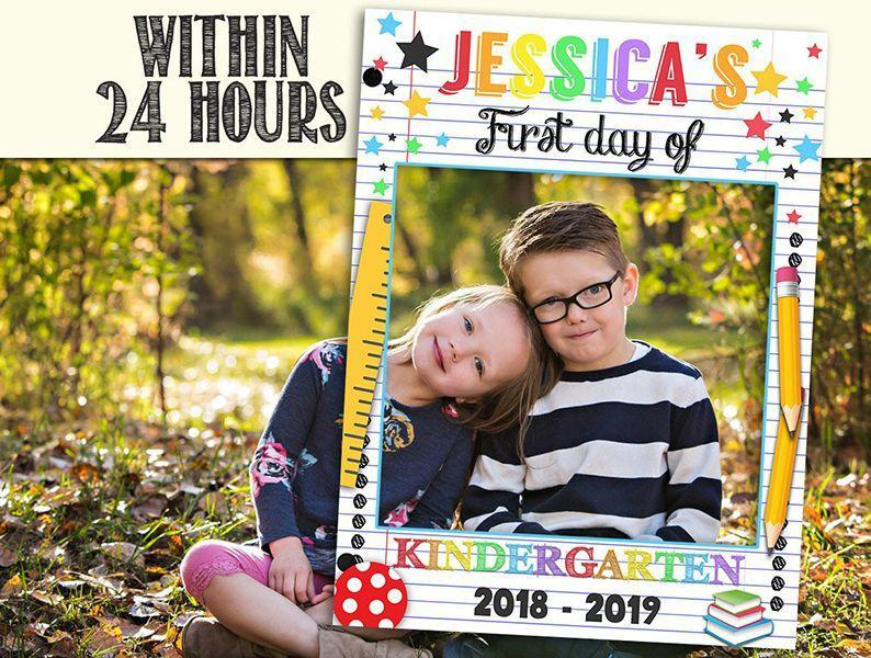 """<p>With a photobooth frame like this, your kids will actually have fun posing for the picture. Take note, teachers: Setting up the photobooth is also a fun way to <a href=""""http://www.goodhousekeeping.com/life/g22550711/back-to-school-activities/"""" rel=""""nofollow noopener"""" target=""""_blank"""" data-ylk=""""slk:break the ice"""" class=""""link rapid-noclick-resp"""">break the ice</a> on the first day! </p><p><a class=""""link rapid-noclick-resp"""" href=""""https://go.redirectingat.com?id=74968X1596630&url=https%3A%2F%2Fwww.etsy.com%2Flisting%2F858286893%2Freusable-back-to-school-photo-booth&sref=https%3A%2F%2Fwww.goodhousekeeping.com%2Flife%2Fparenting%2Fg1580%2Ffirst-day-of-school-photo-ideas%2F"""" rel=""""nofollow noopener"""" target=""""_blank"""" data-ylk=""""slk:SHOP FRAME"""">SHOP FRAME</a></p>"""
