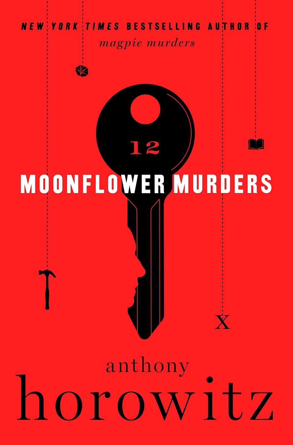 <p><span><strong>Moonflower Murders</strong></span> by Anthony Horowitz is a throwback novel in the vein of Agatha Christie's best works. Publisher turned hotel owner Susan Ryeland is feeling restless until a couple check in and regale her with the tale of a potentially wrongly accused man and a missing woman. Thanks to a surprising connection to the mystery, Susan is certain she can prove the man's innocence and find the woman, and she's ready and willing to take on the case.</p> <p><em>Out Nov. 10</em></p>