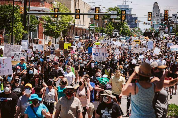PHOTO: Thousands of protesters take to the streets for the 5,000 Man March in Richmond, Virginia, on June 13, 2020. (Eze Amos/Getty Images)