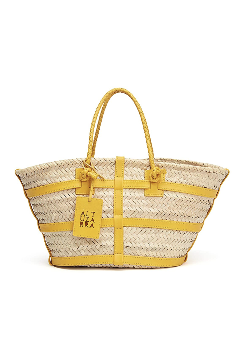 "<p><em>Altuzarra Small Watermill Bag, $445</em></p><p><a class=""link rapid-noclick-resp"" href=""https://www.amazon.com/dp/B08VF6DFHP/ref=cm_sw_r_oth_api_glt_fabc_97CZBZPYXXE6DZMV0MYF?tag=syn-yahoo-20&ascsubtag=%5Bartid%7C10063.g.36061638%5Bsrc%7Cyahoo-us"" rel=""nofollow noopener"" target=""_blank"" data-ylk=""slk:SHOP NOW"">SHOP NOW</a></p><p>Straight from the runway to Amazon's Luxury Stores, Altuzarra's take on the straw shopper is one we've loved since the catwalk. This size is perfect for daily needs.</p>"