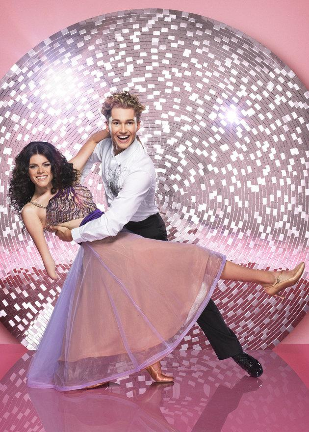 Lauren and AJ in their official 'Strictly' photo