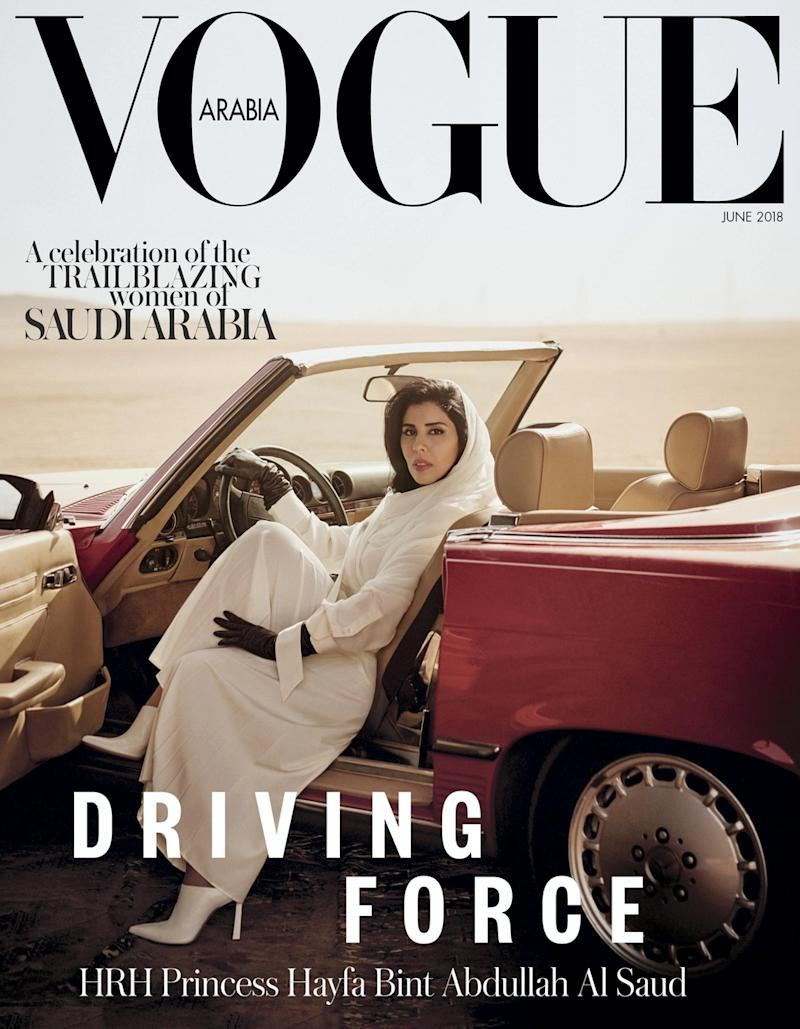 A Saudi Arabian princess behind the wheel of a car on a magazine cover is a huge deal. Here's why.