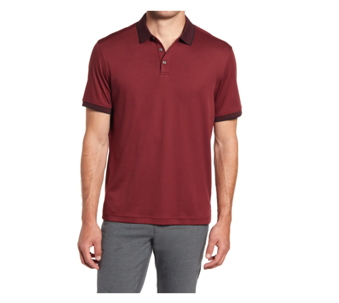 Nordstrom Short Sleeve Tipped Polo. Image via NOrdstrom.