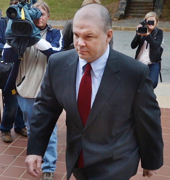 Sports agent Terry Watson, arrives at criminal court on Wednesday Oct. 9, 2013, in Hillsborough, N.C. Watson is a Marietta-based professional accused of funneling thousands of dollars to former University of North Carolina player Greg Little. (AP Photo/The News & Observer, Churck Liddy)