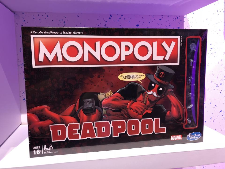 <p>The quintessential board game franchise meets Marvel's most essential wisecracking assassin. (Photo: Adam Lance Garcia) </p>