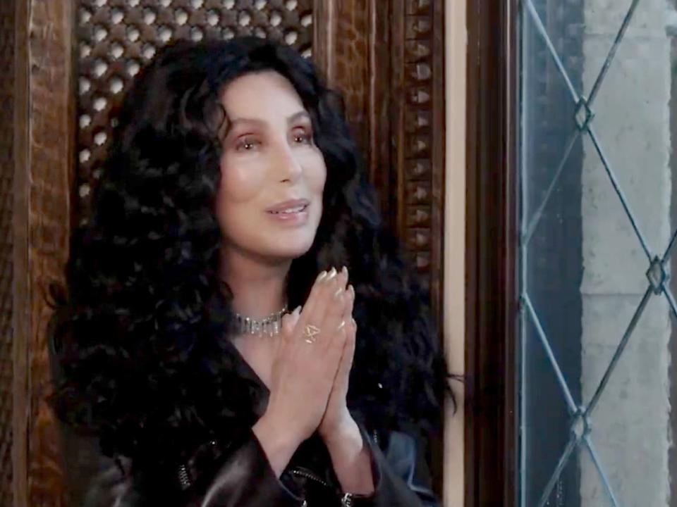 <p>Cher during the 'We The People' pre-inaugural concert on 17 January 2021</p> (YouTube/Biden Inaugural Committee)