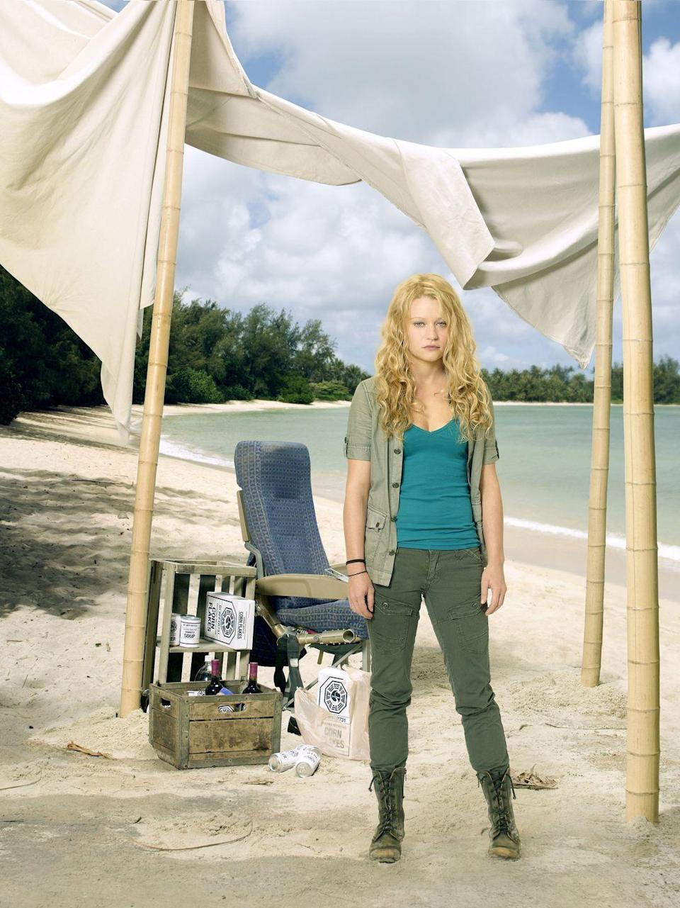 <p>Claire Littleton was pregnant when Oceanic Flight 815 landed on the island, and gave birth while there. She also had a relationship with Charlie.</p>