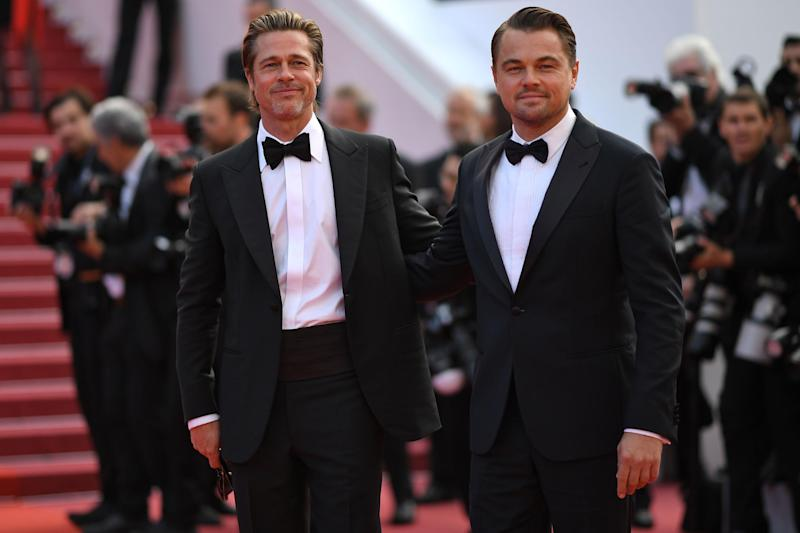 Brad Pitt and Leonardo DiCaprio at the screening of Once Upon A Time In Hollywood (AFP/Getty Images)
