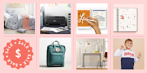 """<p>Back-to-school season is almost here and so are the <a href=""""https://www.goodhousekeeping.com/life/money/a27699618/amazon-back-to-school-sales/"""" rel=""""nofollow noopener"""" target=""""_blank"""" data-ylk=""""slk:best back-to-school deals"""" class=""""link rapid-noclick-resp"""">best back-to-school deals</a> are starting to sneak in! No matter where you're learning this year (in-class in person or right at home), school will still be back in session. We've rounded up the best <a href=""""https://www.goodhousekeeping.com/life/money/a27664523/walmart-back-to-school-sales/"""" rel=""""nofollow noopener"""" target=""""_blank"""" data-ylk=""""slk:back-to-school deals"""" class=""""link rapid-noclick-resp"""">back-to-school deals</a> and <a href=""""https://www.goodhousekeeping.com/life/money/a27704775/apple-back-to-school-deals-2019/"""" rel=""""nofollow noopener"""" target=""""_blank"""" data-ylk=""""slk:best discounts"""" class=""""link rapid-noclick-resp"""">best discounts</a> from your favorite brands and stores, including sales on school supplies, clothing deals, and offers on electronics, home office and college furniture. </p><p>If you still haven't crossed off your <a href=""""https://www.goodhousekeeping.com/life/parenting/tips/a17427/school-shopping-lists/"""" rel=""""nofollow noopener"""" target=""""_blank"""" data-ylk=""""slk:back-to-school shopping list"""" class=""""link rapid-noclick-resp"""">back-to-school shopping list</a>, it's time to shop. Trust us: Whether you're a student, <a href=""""https://www.goodhousekeeping.com/life/parenting/a22724960/things-teachers-wish-parents-knew/"""" rel=""""nofollow noopener"""" target=""""_blank"""" data-ylk=""""slk:parent"""" class=""""link rapid-noclick-resp"""">parent</a>, or a teacher, you'll be so glad you did.</p><p><em>For more back-to-school ideas, including tips on <a href=""""https://www.goodhousekeeping.com/home/organizing/tips/g2358/back-to-school-prep/"""" rel=""""nofollow noopener"""" target=""""_blank"""" data-ylk=""""slk:how to stay better organized"""" class=""""link rapid-noclick-resp"""">how to stay better organized</a>, making <a href=""""https://www.goodhousekeeping"""