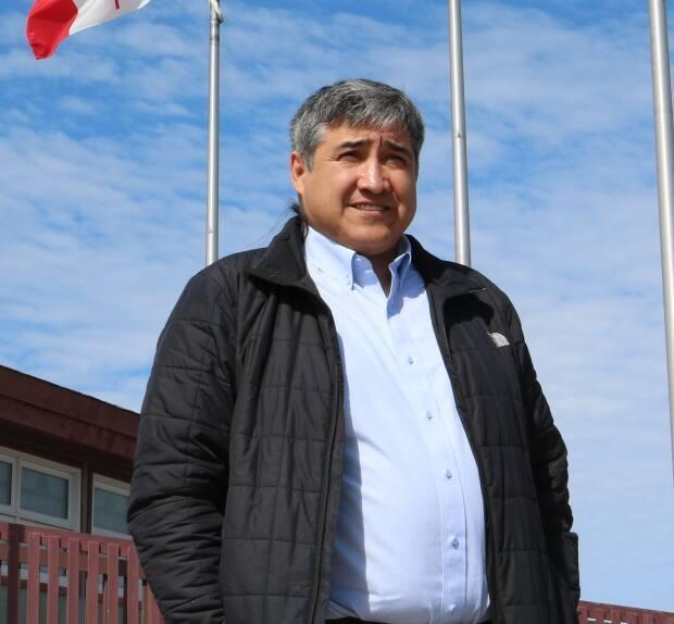 Behchokǫ̀ Chief Clifford Daniels is urging more people to get vaccinated against COVID-19 after more than 1,000 people were identified as close contacts of cases associated with the outbreak at Yellowknife's N.J. Macpherson School. (Kirsten Fenn/CBC - image credit)