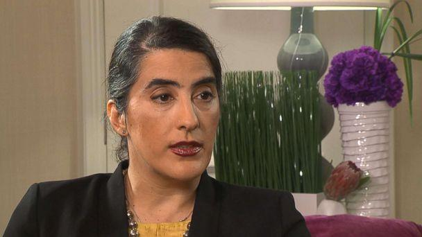 PHOTO: Anila Daulatzai speaks out about her incident on a Southwest Airlines flight in an interview with ABC News. (ABC News)