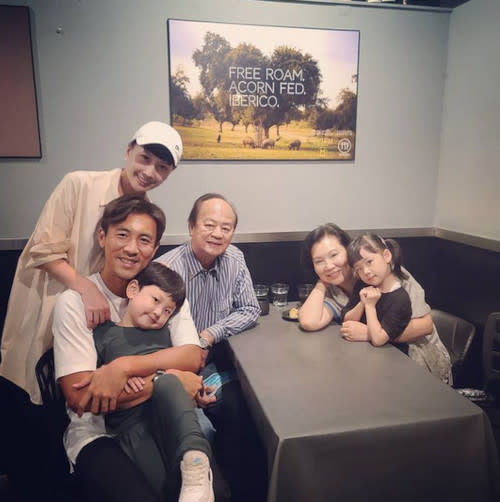 Ti Lung often visits Shaun to play with his grandkids
