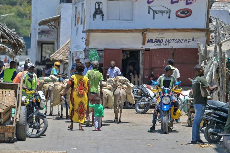 """Old town of Lamu has seen an explosion in the number of noisy motorbike taxis known as """"boda bodas"""""""