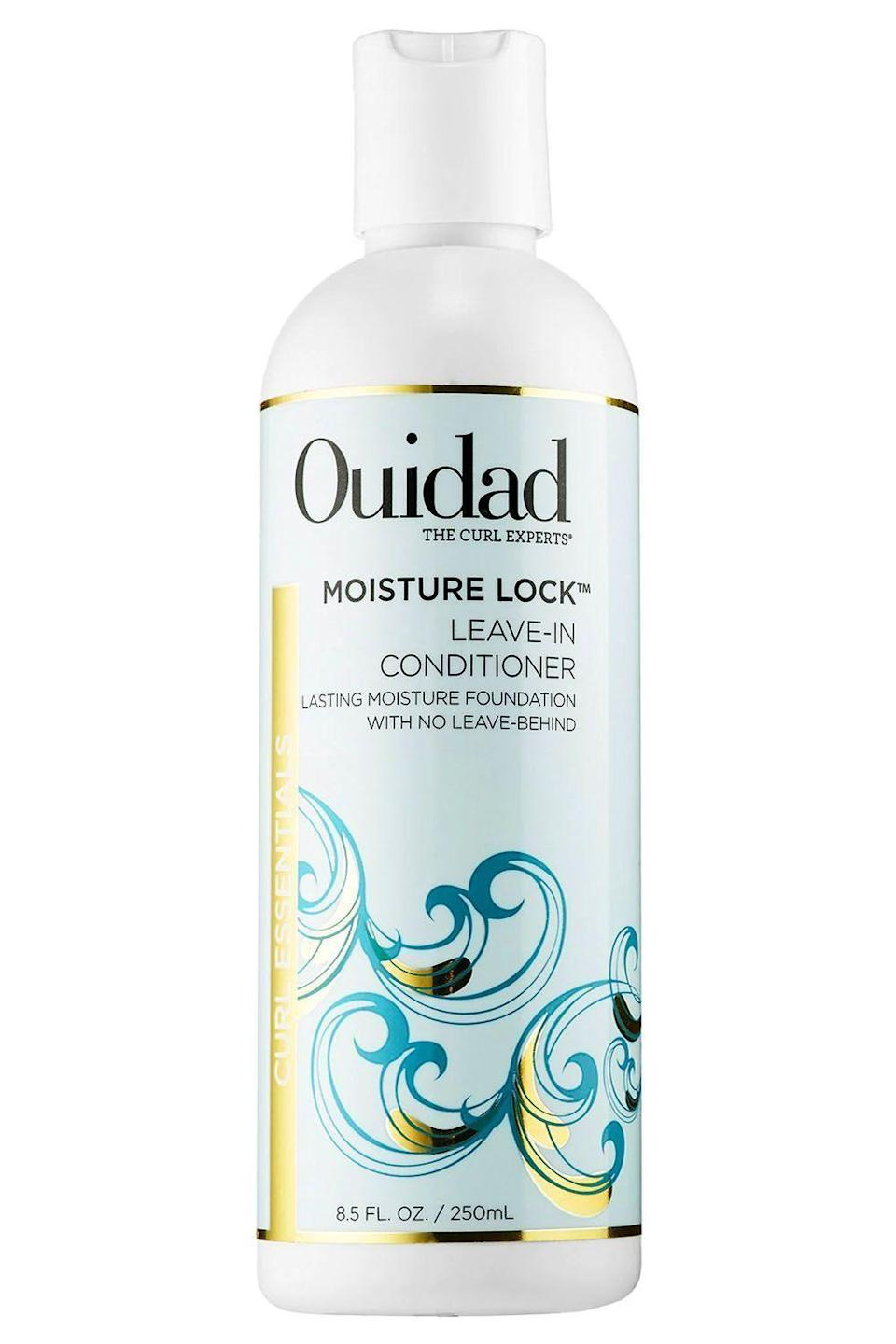 """<p><strong>Ouidad</strong></p><p>ulta.com</p><p><strong>$26.00</strong></p><p><a href=""""https://go.redirectingat.com?id=74968X1596630&url=https%3A%2F%2Fwww.ulta.com%2Fmoisture-lock-leave-in-conditioner%3FproductId%3DxlsImpprod3780009&sref=https%3A%2F%2Fwww.cosmopolitan.com%2Fstyle-beauty%2Fbeauty%2Fg33904669%2Fbest-leave-in-conditioners-for-natural-hair%2F"""" rel=""""nofollow noopener"""" target=""""_blank"""" data-ylk=""""slk:Shop Now"""" class=""""link rapid-noclick-resp"""">Shop Now</a></p><p>If you think it's impossible to add body and moisture without dealing with gunky residue, this leave-in moisturizer for natural hair will prove you wrong. By sealing in ingredients like green tea, vitamin B5, and prickly pear extract, this <strong>conditioner boosts <a href=""""https://www.cosmopolitan.com/style-beauty/beauty/advice/g2769/volume-hair-products/"""" rel=""""nofollow noopener"""" target=""""_blank"""" data-ylk=""""slk:volume"""" class=""""link rapid-noclick-resp"""">volume</a> and hydration without leaving behind a trace. </strong></p>"""