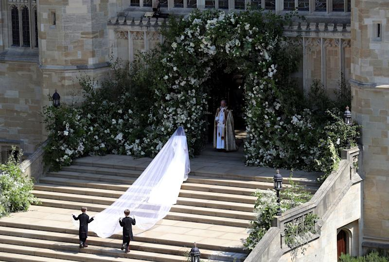 The Duke and Duchess of Sussex got back in a carriage a few weeks after their fairy-tale wedding in Windsor.