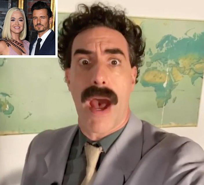 Orlando Bloom surprises Katy Perry with NSFW birthday message from Borat