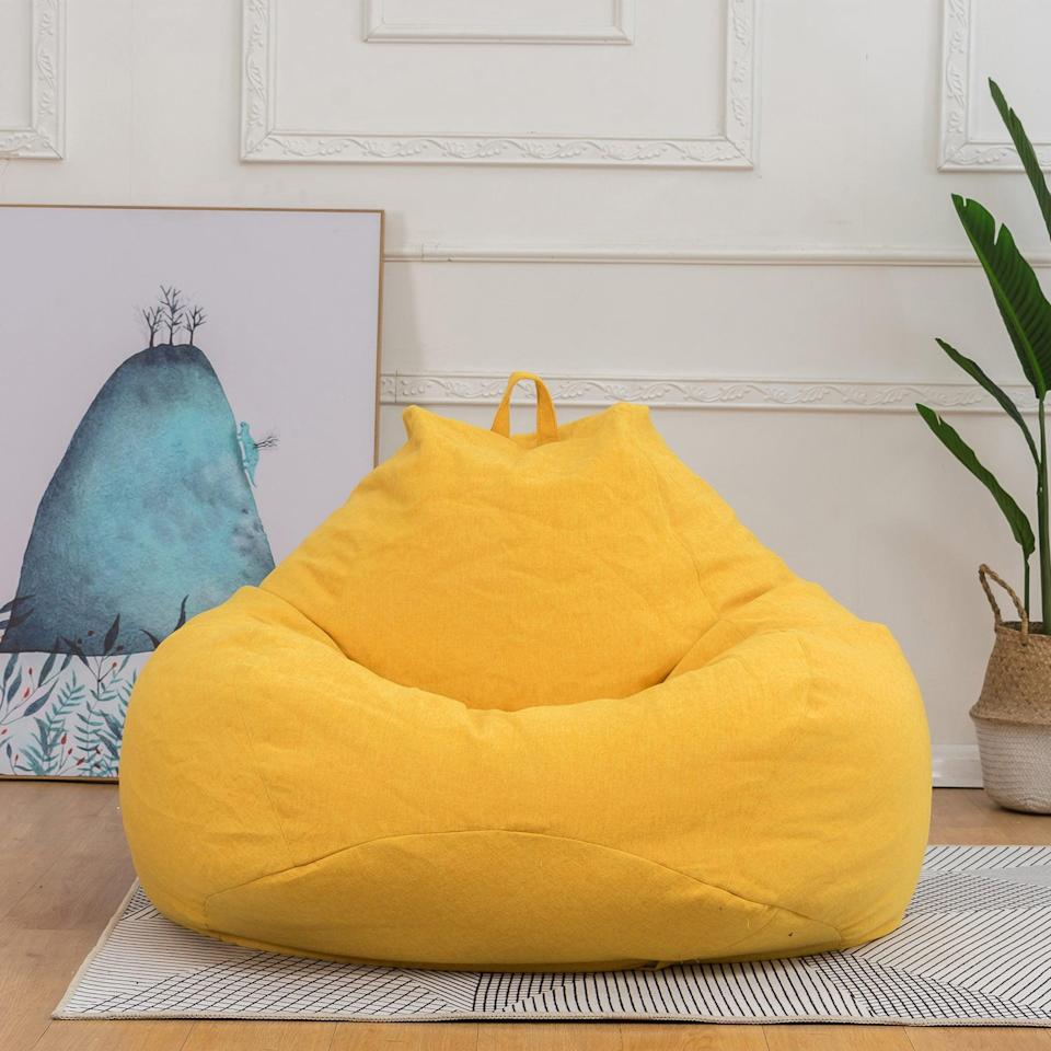 <p>We're kinda vibing with this <span>NK SUPPORT Bean Bag Sofa</span> ($37). We're loving the yellow!</p>