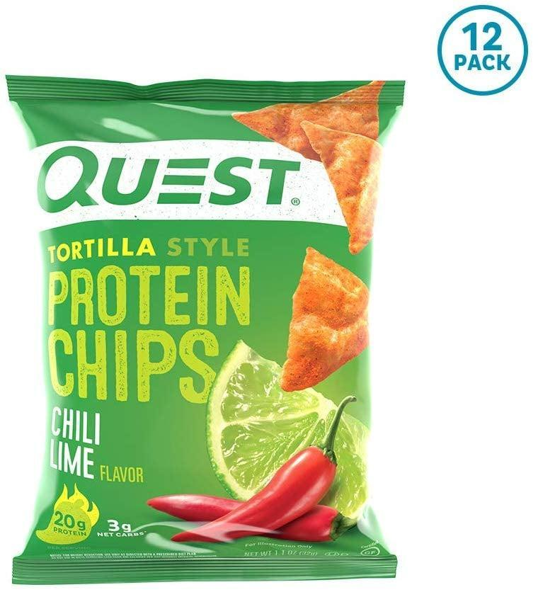 <p>If you like spicy, you've got to try these <span>Quest Nutrition Tortilla-Style Protein Chips</span> ($25 for 12). They're a lighter version of your beloved chips. Good luck not finishing the whole bag.</p>