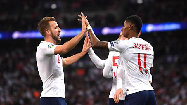 "England achieved their pre-match aim to ""put on a show"" as they put seven past Montenegro at Wembley on Thursday."