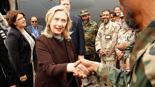 Hillary Clinton Visits Libya to Meet Rebel Leaders