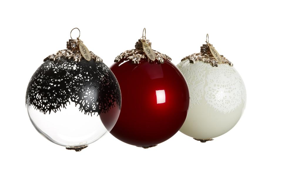 <b>Jason Wu for Target + Neiman Marcus Holiday Collection Ornaments</b><br><br> Price: $49.99 (set of 3) <br><br>