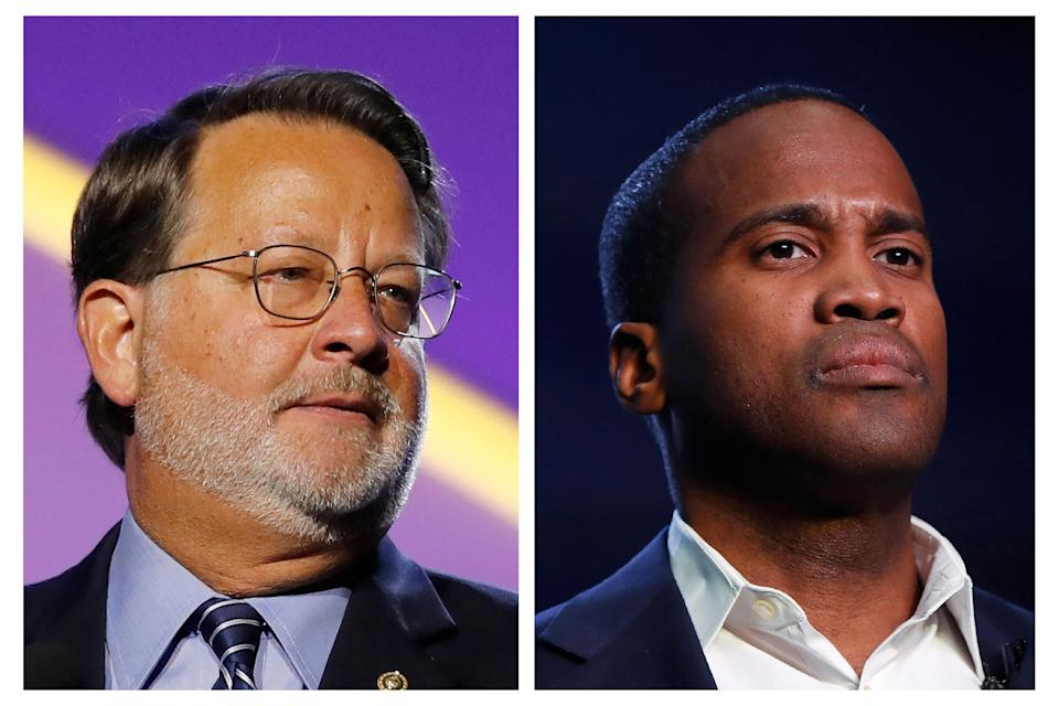 Democratic Sen. Gary Peters and Republican Senate candidate John James are running in a race that campaign finance experts project will top a staggering $100 million price tag by Election Day. (Photo: ASSOCIATED PRESS)