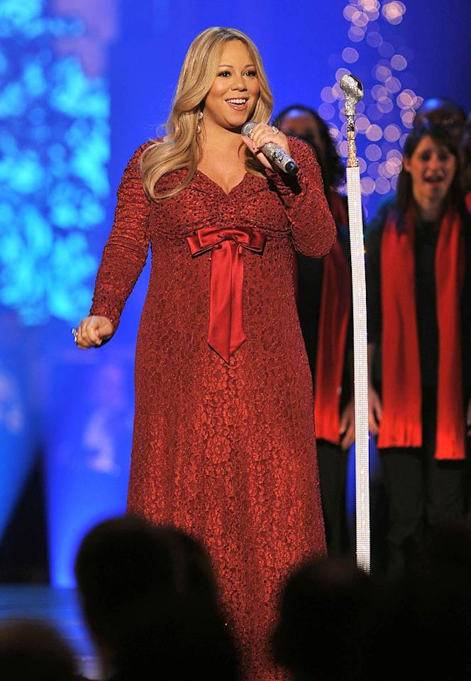 Though Mariah Carey was thrilled to learn she was pregnant with twins last year, the pop diva (who's married to Nick Cannon) wasn't quite as happy about the 70 pounds she gained during pregnancy. (12/12/10)