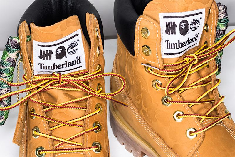 0e1ad9191d7b6 Undefeated and Bape Rework Timberland s Classic 6-Inch Boot