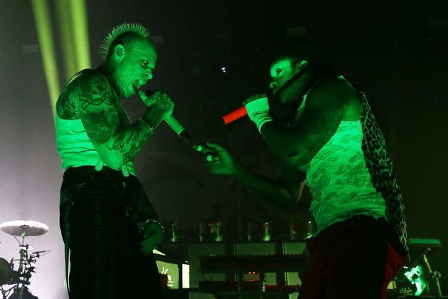 Keith Flint and Maxim perform live on stage at O2 Academy Brixton