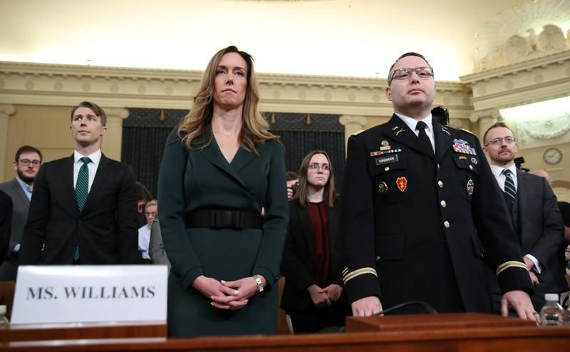 Williams and Vindman testify at House Intelligence Committee hearing on Trump impeachment inquiry on Capitol Hill in Washington