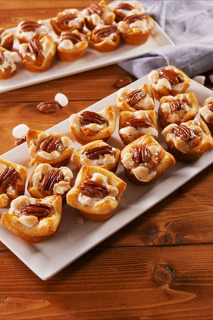 "<p>The perfect amount of sweet and savory. </p><p>Get the recipe from <a href=""https://www.delish.com/holiday-recipes/thanksgiving/a24449743/sweet-potato-crescent-bites-recipe/"" rel=""nofollow noopener"" target=""_blank"" data-ylk=""slk:Delish"" class=""link rapid-noclick-resp"">Delish</a>. </p>"